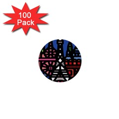 7 Wonders World 1  Mini Buttons (100 Pack)  by Mariart
