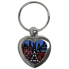 7 Wonders World Key Chains (heart)  by Mariart