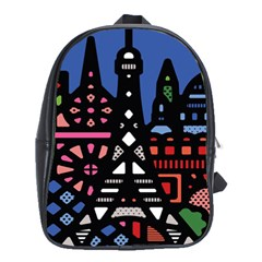 7 Wonders World School Bags(large)  by Mariart