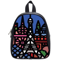 7 Wonders World School Bags (small)  by Mariart