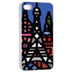 7 Wonders World Apple Iphone 4/4s Seamless Case (white) by Mariart