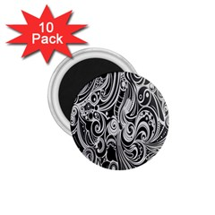 Black White Shape 1 75  Magnets (10 Pack)  by Mariart