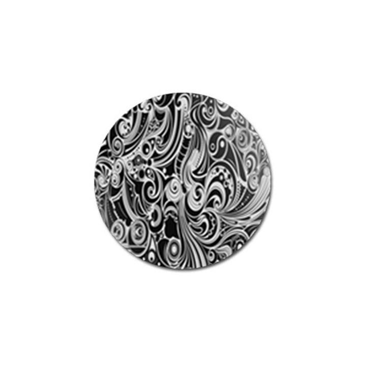 Black White Shape Golf Ball Marker