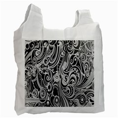 Black White Shape Recycle Bag (two Side)  by Mariart
