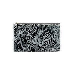 Black White Shape Cosmetic Bag (small)  by Mariart