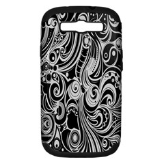 Black White Shape Samsung Galaxy S Iii Hardshell Case (pc+silicone) by Mariart