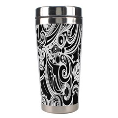 Black White Shape Stainless Steel Travel Tumblers by Mariart