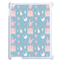 Baby Girl Accessories Pattern Pacifier Apple Ipad 2 Case (white) by Mariart