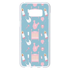 Baby Girl Accessories Pattern Pacifier Samsung Galaxy S8 Plus White Seamless Case by Mariart