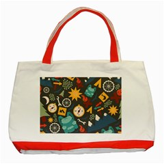 Compass Cypress Chair Arrow Wheel Star Mountain Classic Tote Bag (red) by Mariart