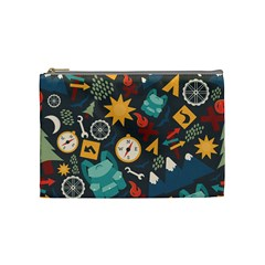 Compass Cypress Chair Arrow Wheel Star Mountain Cosmetic Bag (medium)  by Mariart