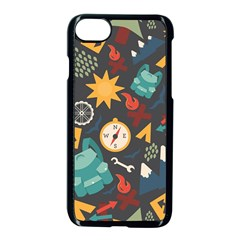 Compass Cypress Chair Arrow Wheel Star Mountain Apple Iphone 7 Seamless Case (black) by Mariart
