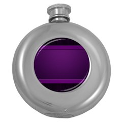 Board Purple Line Round Hip Flask (5 Oz) by Mariart