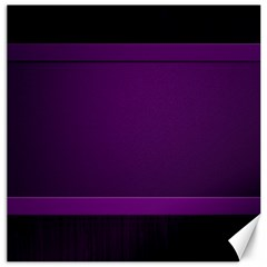 Board Purple Line Canvas 16  X 16   by Mariart