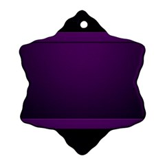 Board Purple Line Snowflake Ornament (two Sides) by Mariart