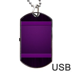 Board Purple Line Dog Tag Usb Flash (two Sides) by Mariart