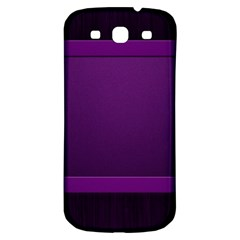 Board Purple Line Samsung Galaxy S3 S Iii Classic Hardshell Back Case by Mariart