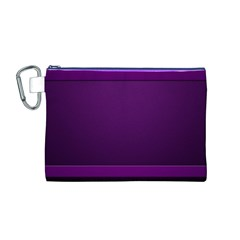 Board Purple Line Canvas Cosmetic Bag (m) by Mariart