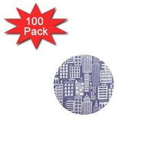 Building Citi Town Cityscape 1  Mini Magnets (100 Pack)  by Mariart