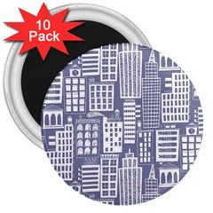 Building Citi Town Cityscape 3  Magnets (10 Pack)  by Mariart
