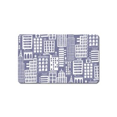 Building Citi Town Cityscape Magnet (name Card) by Mariart