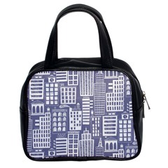 Building Citi Town Cityscape Classic Handbags (2 Sides) by Mariart