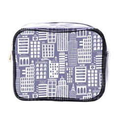 Building Citi Town Cityscape Mini Toiletries Bags by Mariart