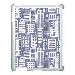 Building Citi Town Cityscape Apple Ipad 3/4 Case (white) by Mariart