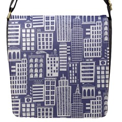 Building Citi Town Cityscape Flap Messenger Bag (s) by Mariart