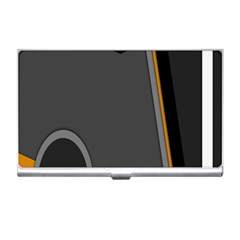 Flag Grey Orange Circle Polka Hole Space Business Card Holders by Mariart