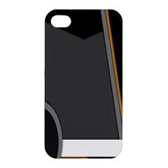 Flag Grey Orange Circle Polka Hole Space Apple Iphone 4/4s Hardshell Case by Mariart