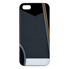 Flag Grey Orange Circle Polka Hole Space Iphone 5s/ Se Premium Hardshell Case by Mariart