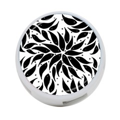 Flower Fish Black Swim 4 Port Usb Hub (two Sides)  by Mariart