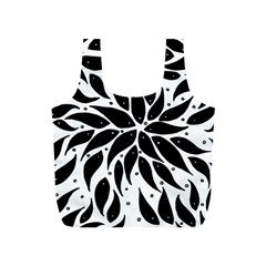 Flower Fish Black Swim Full Print Recycle Bags (s)  by Mariart