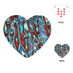 Dizzy Stone Wave Playing Cards (heart)  by Mariart