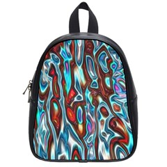 Dizzy Stone Wave School Bags (small)  by Mariart