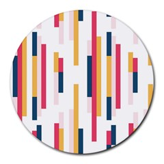 Geometric Line Vertical Rainbow Round Mousepads by Mariart