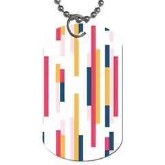 Geometric Line Vertical Rainbow Dog Tag (two Sides) by Mariart