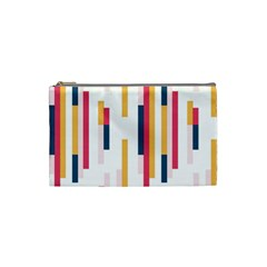 Geometric Line Vertical Rainbow Cosmetic Bag (small)  by Mariart