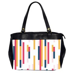 Geometric Line Vertical Rainbow Office Handbags (2 Sides)  by Mariart