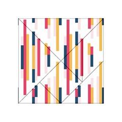 Geometric Line Vertical Rainbow Acrylic Tangram Puzzle (4  X 4 )