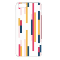 Geometric Line Vertical Rainbow Apple Iphone 5 Seamless Case (white) by Mariart