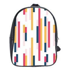 Geometric Line Vertical Rainbow School Bags (xl)  by Mariart