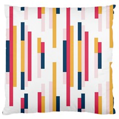 Geometric Line Vertical Rainbow Standard Flano Cushion Case (one Side) by Mariart