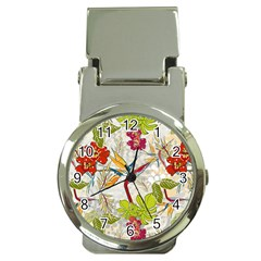 Flower Floral Red Green Tropical Money Clip Watches by Mariart