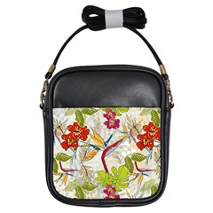 Flower Floral Red Green Tropical Girls Sling Bags by Mariart