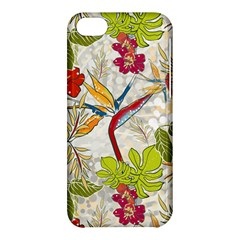 Flower Floral Red Green Tropical Apple Iphone 5c Hardshell Case by Mariart