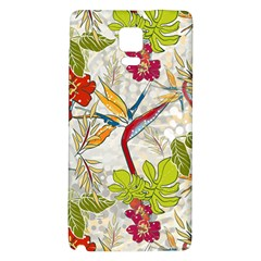 Flower Floral Red Green Tropical Galaxy Note 4 Back Case by Mariart