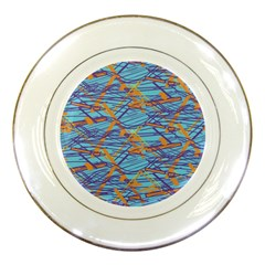 Geometric Line Cable Love Porcelain Plates by Mariart