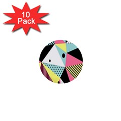 Geometric Polka Triangle Dots Line 1  Mini Buttons (10 Pack)  by Mariart